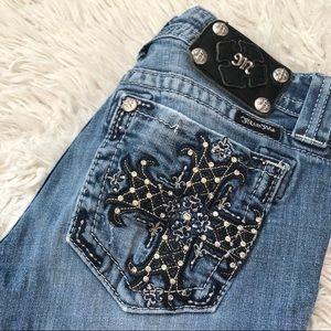 Miss Me Jewelled Cross Pocket Jeans